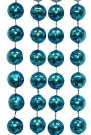 48in 12mm Round Metallic Turquoise Beads