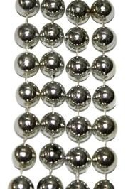 48in 8mm Metallic Round Silver Beads