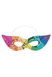 Rainbow Colors Sequin Mask