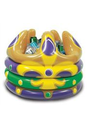 Inflatable Mardi Gras Crown Cooler
