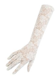 White Lace Gloves
