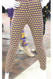 Mardi Gras Diamond Leggings w/ Fleur de Lis Design