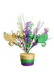 14in Mardi Gras Centerpiece w/ Fleur De Lis Design