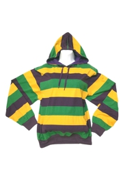 Mardi Gras Hoodie w/ Strings Size MEDIUM