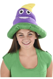 Mardi Gras Emoticon Poop Hat