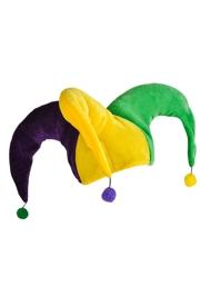 Mardi Gras Pom Pom Jester Hat