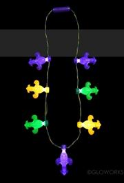Fleur De Lis Led Charm Necklace