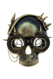 Gold Steampunk / Day of the Dead Skull Mask