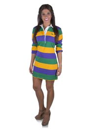 Mardi Gras Striped Dress Size Large