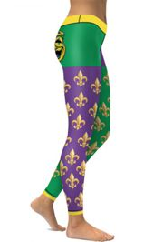 High Quality 3D Printed Mardi Gras Sport/ Fitness/ Yoga Leggings