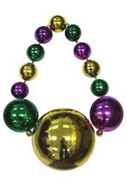 54in Long x 250mm/150mm/80mm Super Big Mardi Gras Bead