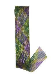 2.5in wide x 60 ft long Mardi Gras Decor Waffle Ribbon