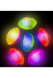 3in Assorted Colors Light-up Spiky Footballs/ Sports Bounce Balls