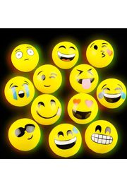 3in Light-up Emoticon Balls/ Bounce Balls