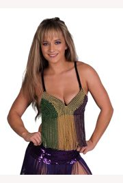 Mardi Gras Beaded Bra Size Medium/ Large