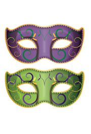 37in wide x 18.5in tall Jumbo Mardi Gras Mask Cutouts