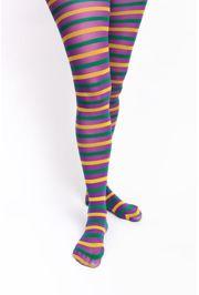 Mardi Gras Stripe Pantyhose Size 9 -11 or M/L