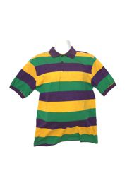 Mardi Gras Style T-Shirt W/Short Sleeve/Collar Medium Size