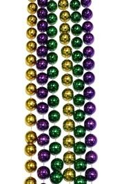 16mm 96in Purple, Green, and Gold Beads