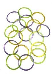 5mm Clear AB Assorted Color Plastic Bangle Bracelets