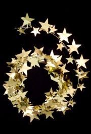 9ft Gold Star Wire Garland