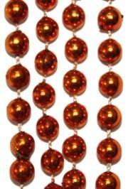 10mm 33in Metallic Orange Beads