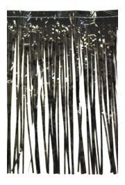 10ft Wide x15in Drop Black Fringe