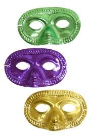 Eye Masks: Purple, Green, and Gold Metallic Half Mask