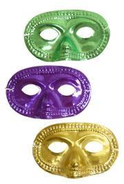 Eye Masks: Purple, Green, and Gold Metallic Half Mask
