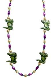 Alligator beads are essential to celebrating Mardi Gras in the South.