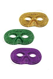 Eye Masks: Purple, Green, and Gold Glitter Mask