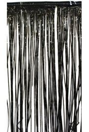 14ft Long x 29in Drop Black Fringe Table Skirting