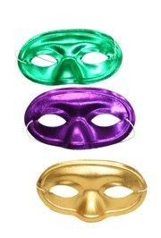 4in x 7in Metallic Purple Green Gold Lamei Half Face Mask