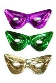 14in x 6in Purple/ Green/ Gold Metallic Cat Eye Mask Wall Plaque
