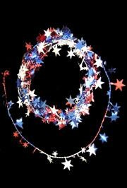 12ft Red/ White/ Blue Star Wire Garland
