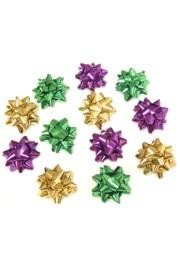 1in Purple/ Green/ Gold Metallic Bows