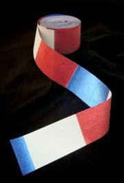 2in x 100in Red/ Blue/ Silver Metallic Plastic Streamer