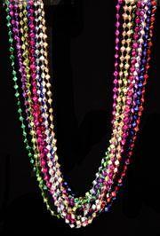 48in Metallic 12 Assorted Color Diamond Cut Pyramid Beads