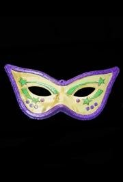 28in x 13in Cat Eye Mask Glitter Purple/ Green/ Gold Wall Plaque Decoration