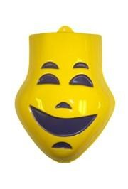 9in x 11in Yellow Comedy Face Wall Masks