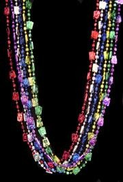 48in Metallic 6 Assorted Color Casino w/ Dice/ Card Beads