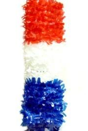 25yd x 36in Red/ White/ Blue Section Petal Paper for Float Decoration