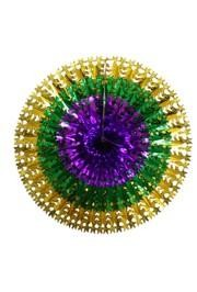 23in x 3in Metallic Purple Green Gold Hanging Decoration/ Burst Fan
