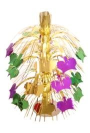 18in Metallic Purple Green Gold Mardi Gras Crown Centerpiece