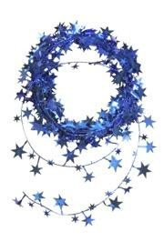18ft Metallic Blue Star Wire Garland