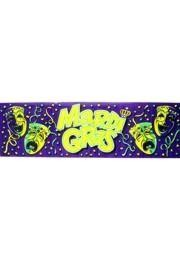 63in x 21in Plastic Mardi Gras Sign Banner