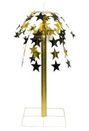24in Black and Gold Star Cut Fountain