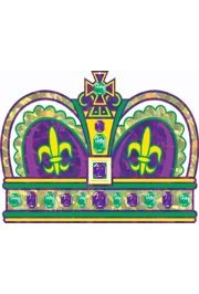 14in x 9.5in Prismatic Mardi Gras Crown Cutout