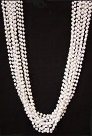 48in 12mm Round White AB Beads