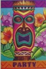 5.75in x 4in Tiki Island Invitations